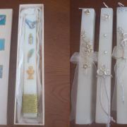 Vela Batismo/Comunhão com aplicações ceramica