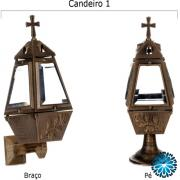 Lanterna metal, candeeiro cemitério metal para campas ou jazigos